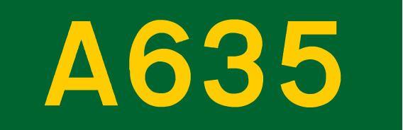 A635 road