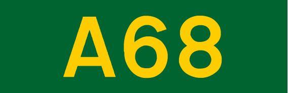 A68 road