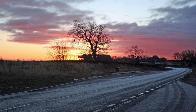 A696 road