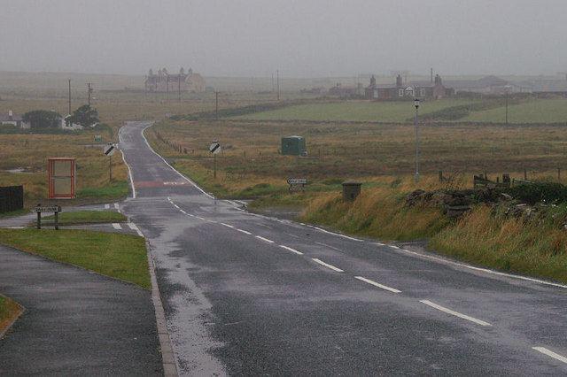 A968 road