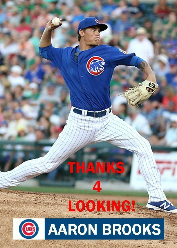 Aaron Brooks (baseball) AARON BROOKS 2016 CHICAGO CUBS BASEBALL CARD