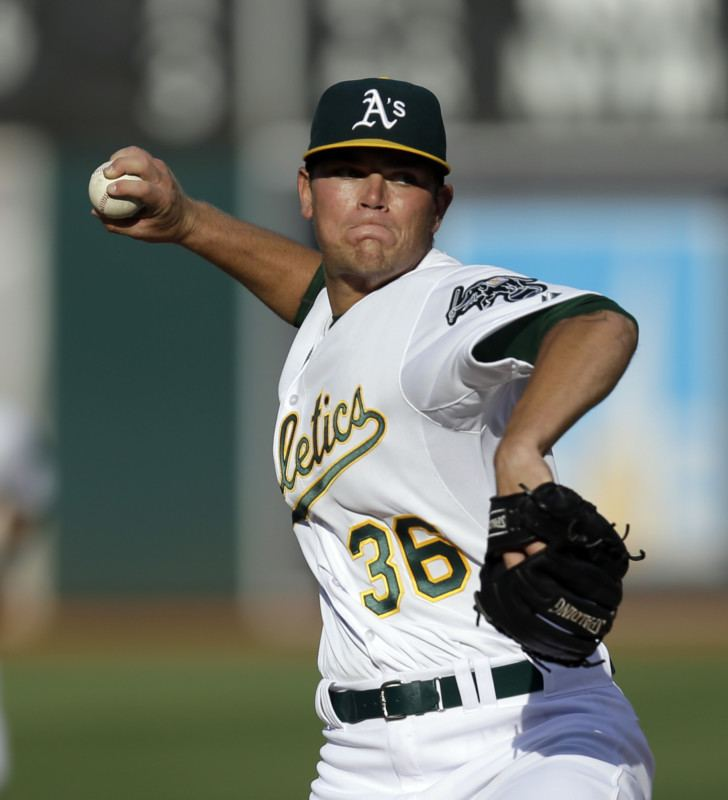 Aaron Brooks (baseball) Athletics 5 Indians 1 Aaron Brooks earns first career
