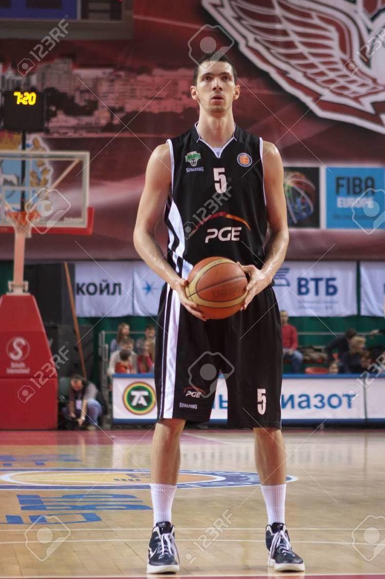 Aaron Cel SAMARA RUSSIA FEBRUARY 03 Aaron Cel Of BC PGE Turow