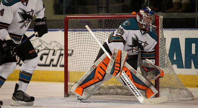 Aaron Dell San Jose Barracuda Sharks ReSign Goaltender Aaron Dell