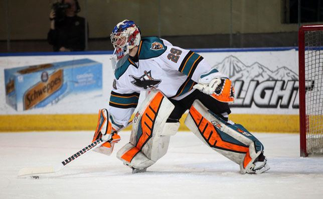 Aaron Dell Sharks ReSign Goaltender Aaron Dell San Jose Sharks News