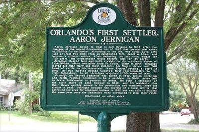 Aaron Jernigan Orlandos First Settler Aaron Jernigan Florida Historical Markers