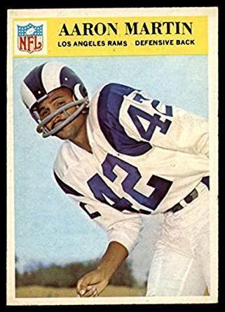 Aaron Martin (American football) Amazoncom Football NFL 1966 Philadelphia 99 Aaron Martin ExMint