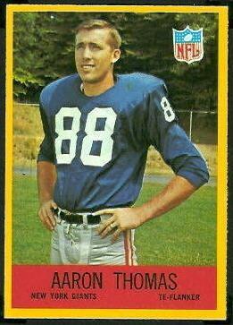 Aaron Thomas (American football) wwwfootballcardgallerycom1967Philadelphia119