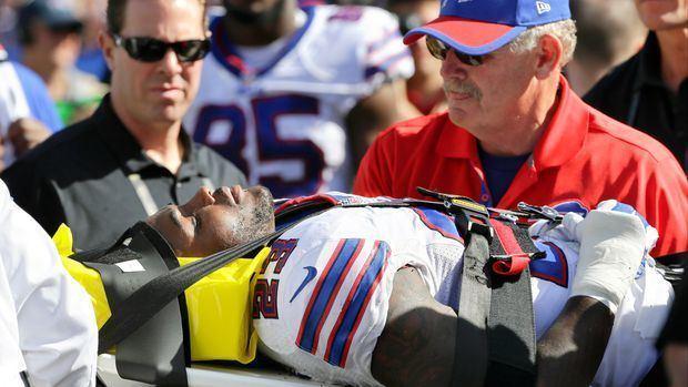 Aaron Williams (American football) Buffalo Bills safety Aaron Williams moving after suffering