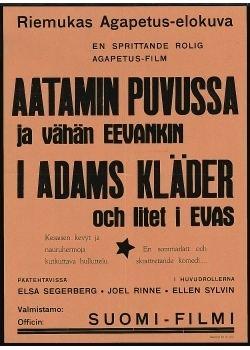 Aatamin puvussa ja vähän Eevankin (1931 film) httpsuploadwikimediaorgwikipediafi440Aat