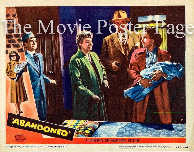 Abandoned (1949 film) Abandoned 1949 Gale Storm US Lobby Card EX 20