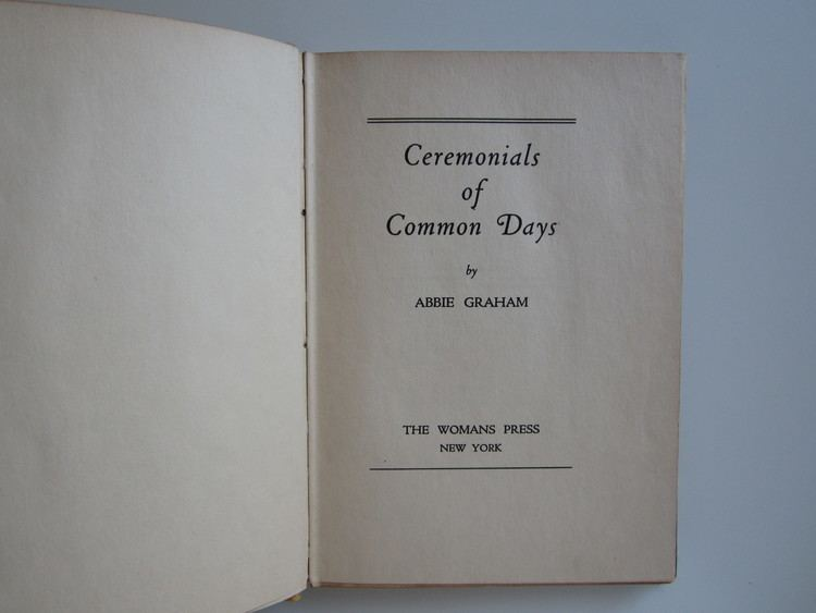 Abbie Graham Thanksgiving from Ceremonials of Common Days by Abbie Graham 1923