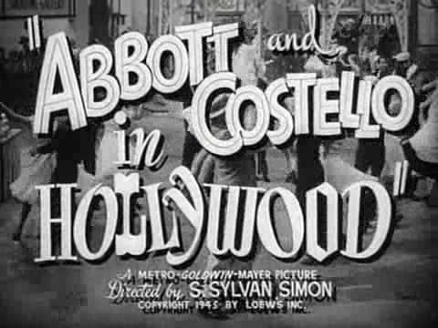 Abbott and Costello in Hollywood Abbott and Costello in Hollywood Original Trailer YouTube
