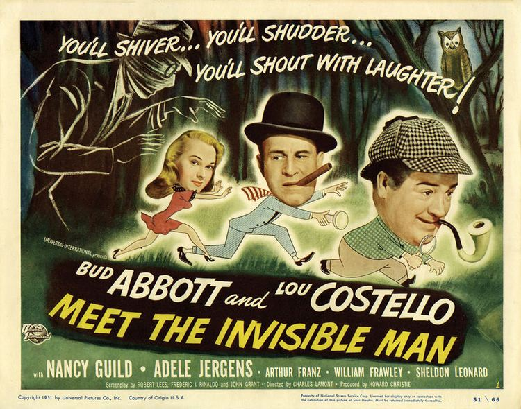 Abbott and Costello Meet the Invisible Man movie scenes Abbott and Costello Meet the Invisible Man 1951