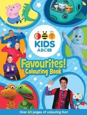 ABC Kids (Australia) ABC KIDS Favourites Colouring Book Blue Harper Collins Australia