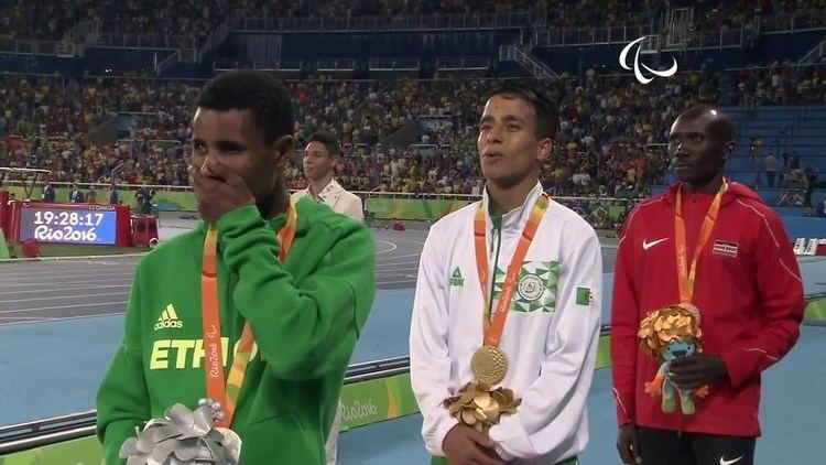 Abdellatif Baka Rio 2016 Paralympics Abdellatif BAKA Remise de mdaille et Hymne