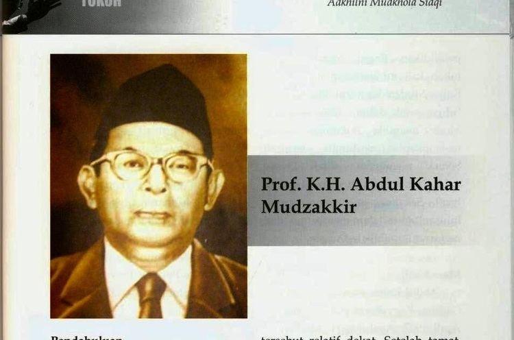 Abdoel Kahar Moezakir Caraka Aksara Prof KH Abdul Kahar Mudzakkir 19071973