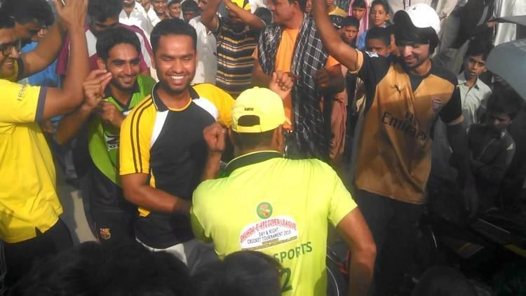 Abdul Latif (cricketer) Shah Abdul Latif CC Larkana Celebrate Victory Against Masha Allah C