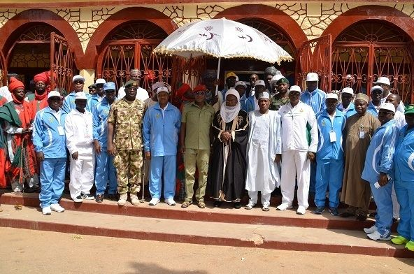 Abdulmumini Kabir Usman 8TH NAF GAMES Courtesy Call on the Emir of Katsina HRH Alhaji Dr