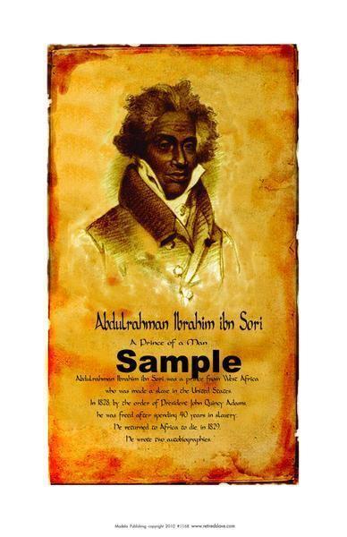 Abdulrahman Ibrahim Ibn Sori African American historical posters Abdulrahman Ibrahim ibn Sori