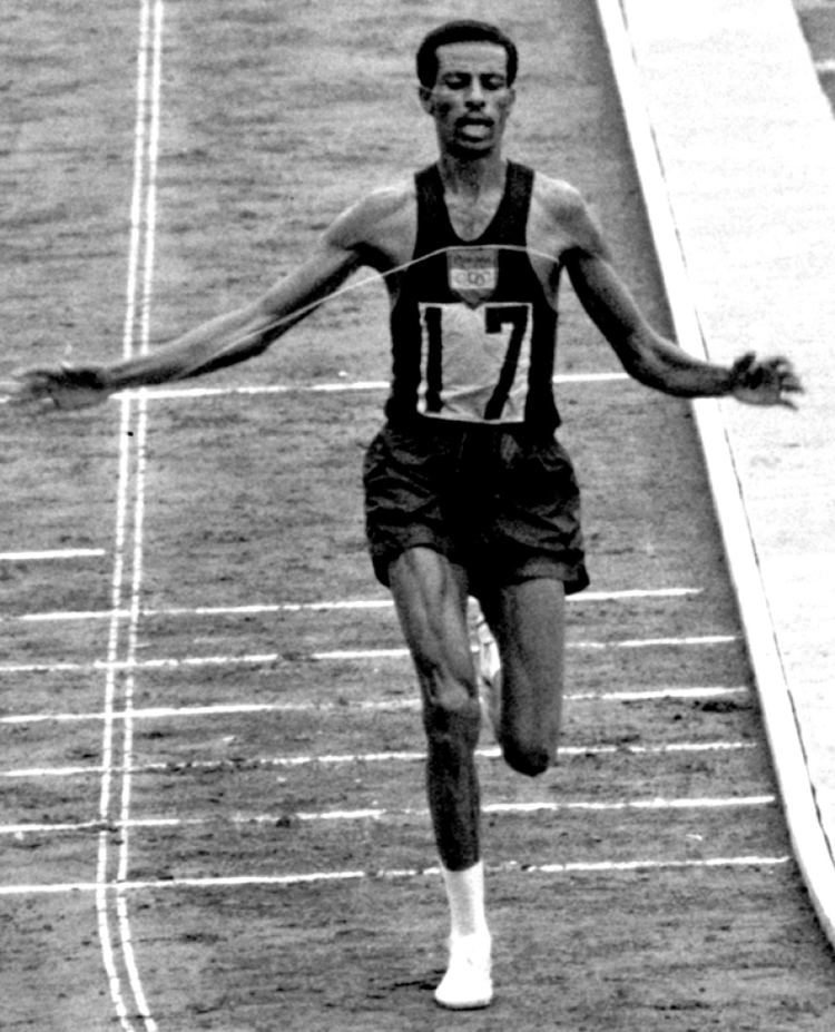 Abebe Bikila Abebe Bikila wins his second Olympic marathon 1964