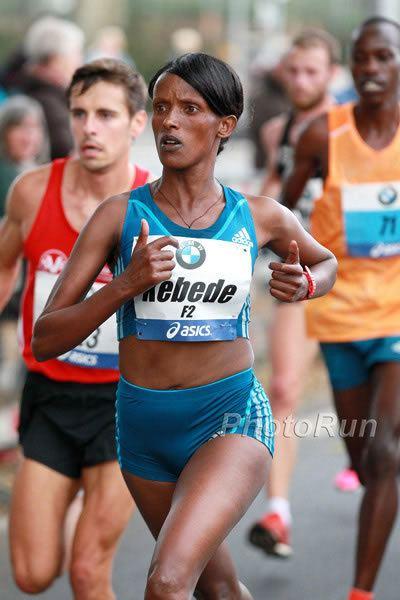 Aberu Kebede Mark Kiptoo and Aberu Kebede win Frankfurt Marathon