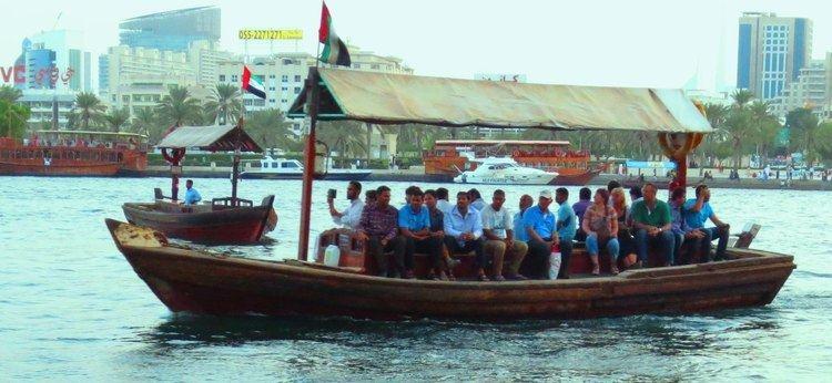Abra (boat) ABRA DUBAI Wooden Boat Ride Dubai Creek YouTube