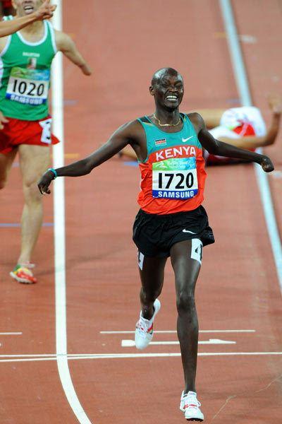 Abraham Cheruiyot Tarbei Kenyas Abraham Cheruiyot Tarbei wins Mens 1500m T46 gold china