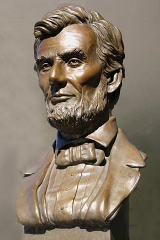 Abraham Lincoln (bust by Jones) wwwpaulaslatercomMAPLincolnLGclayPedsHPBusts