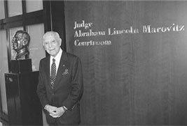 Abraham Lincoln Marovitz Bio The Hon Judge Abraham Lincoln Marovitz