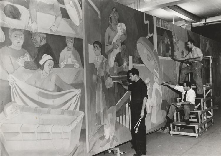 Abraham Lishinsky FileArchives of American Art Abraham Lishinsky and assistants