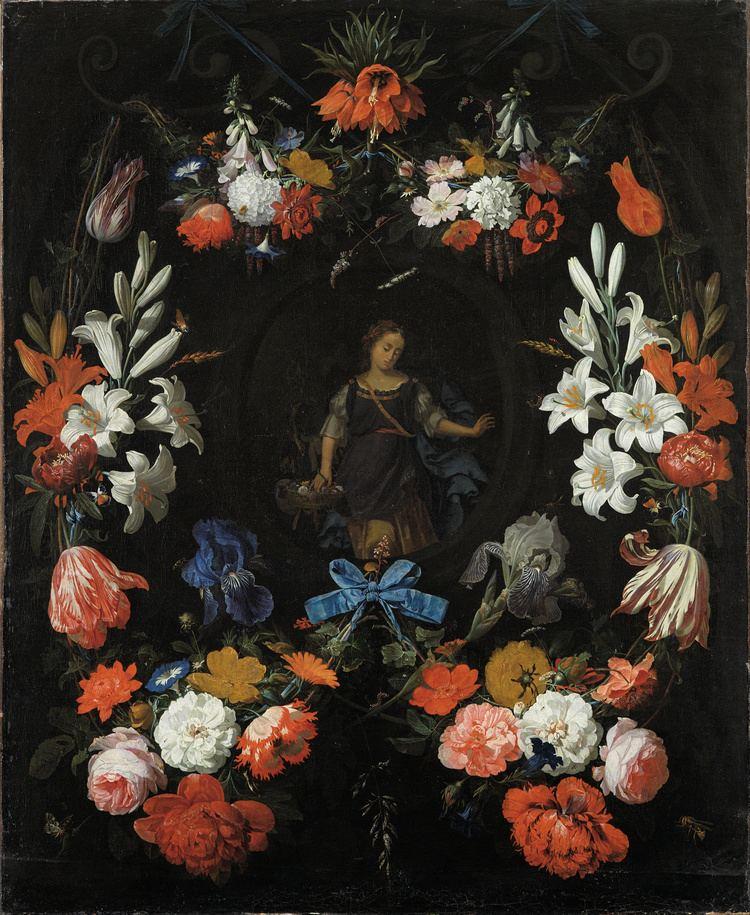 Abraham Mignon FileAbraham Mignon Garland of Flowers Google Art