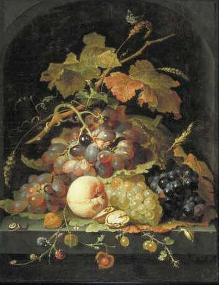 Abraham Mignon Still life with grapes and other fruit Abraham Mignon