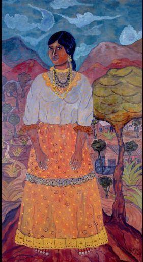 Abraham Ángel Abraham ngel quotLa indiaquot 1923 leotela 220x120 cm Indigenismo