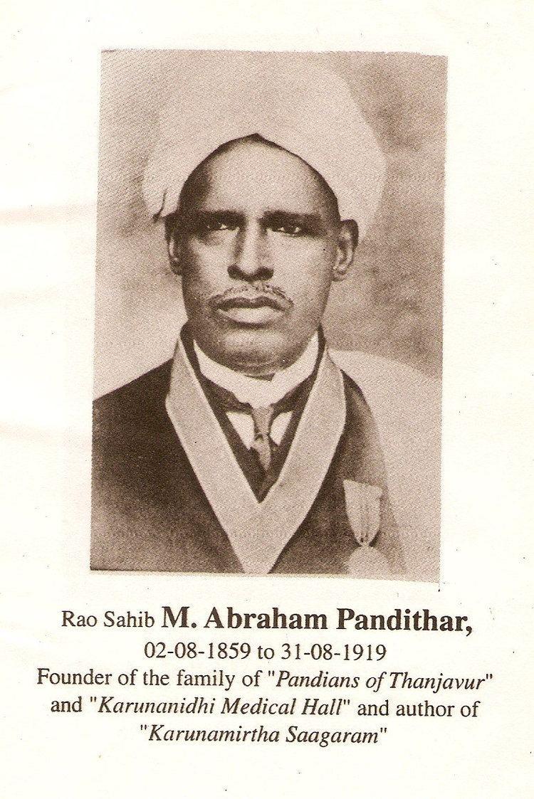 Abraham Pandithar Dr M Abraham Pandithar 1859 1919 Genealogy