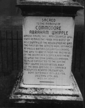 Abraham Whipple Who Was Commodore Whipple