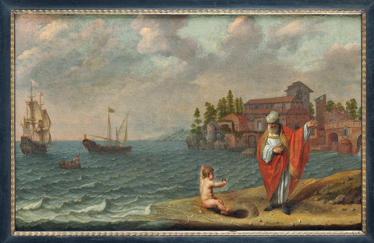 Abraham Willaerts Abraham Willaerts Saint Augustine and the child Galen Galerie