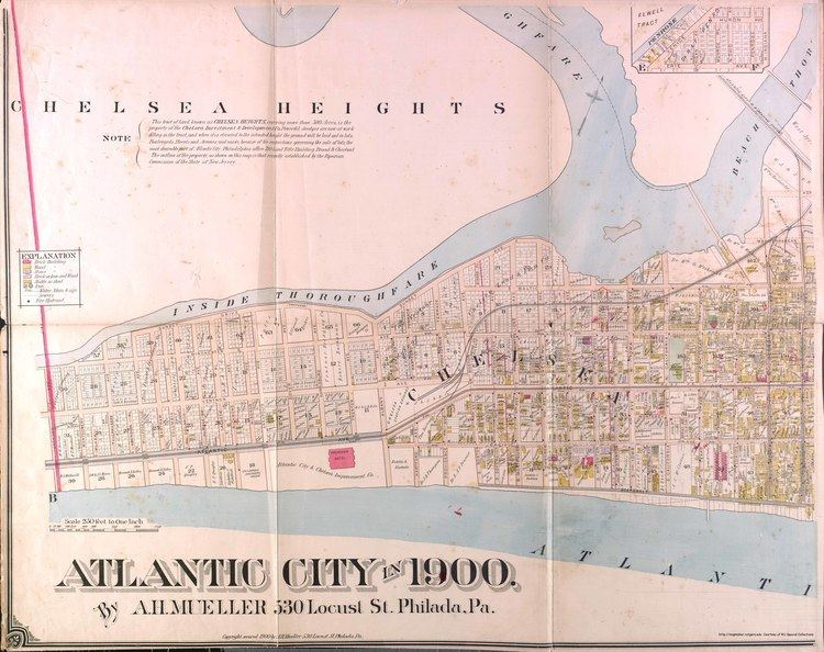 Absecon Island Historical Atlantic City New Jersey Maps
