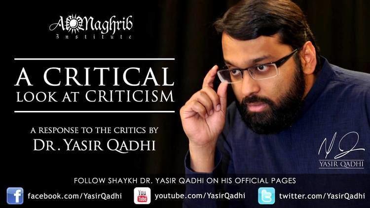 Abu Ammaar Yasir Qadhi A Response to the Critics by Dr Yasir Qadhi Salafi Sufi Unity