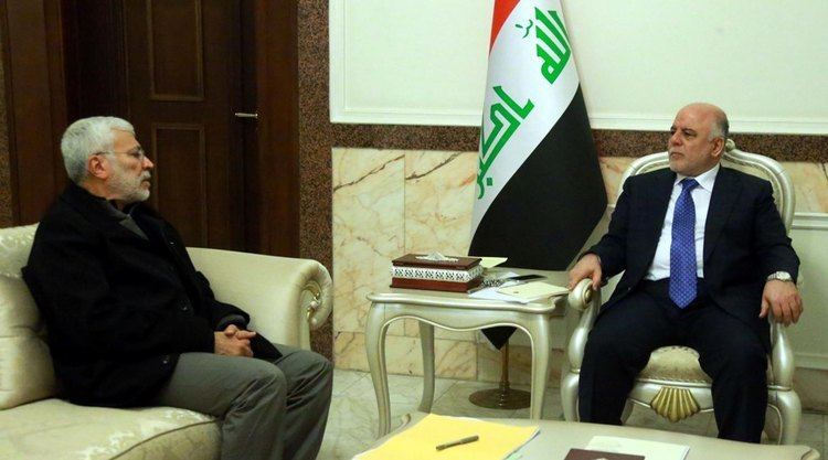 Abu Mahdi al-Muhandis Prime Minister Dr Haider AlAbadi received the Deputy Head of the