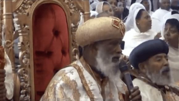 Abune Merkorios His Holiness Abune Merkorios singing a song of praise at
