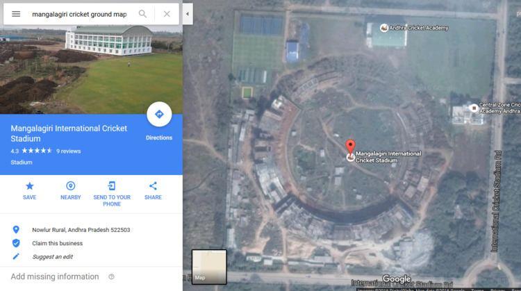 ACA International Cricket Stadium Mangalagiri International CricketStadiumAmaravati Politics and