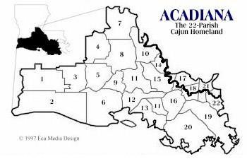 Acadiana Cajun and Cajuns Genealogy site for Cajun Acadian and Louisiana