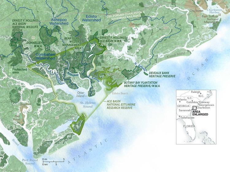 ACE Basin Lowcountry Legacy Map Saving the ACE National Geographic Magazine