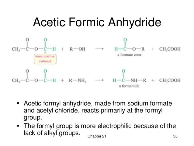 Acetic formic anhydride 212 Part 2 Reactions of Carboxylic Acid Derivatives Wade 7th