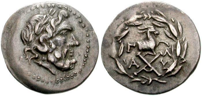 Achaean League Peloponnesos Achaean League Ancient Greek Coins WildWindscom