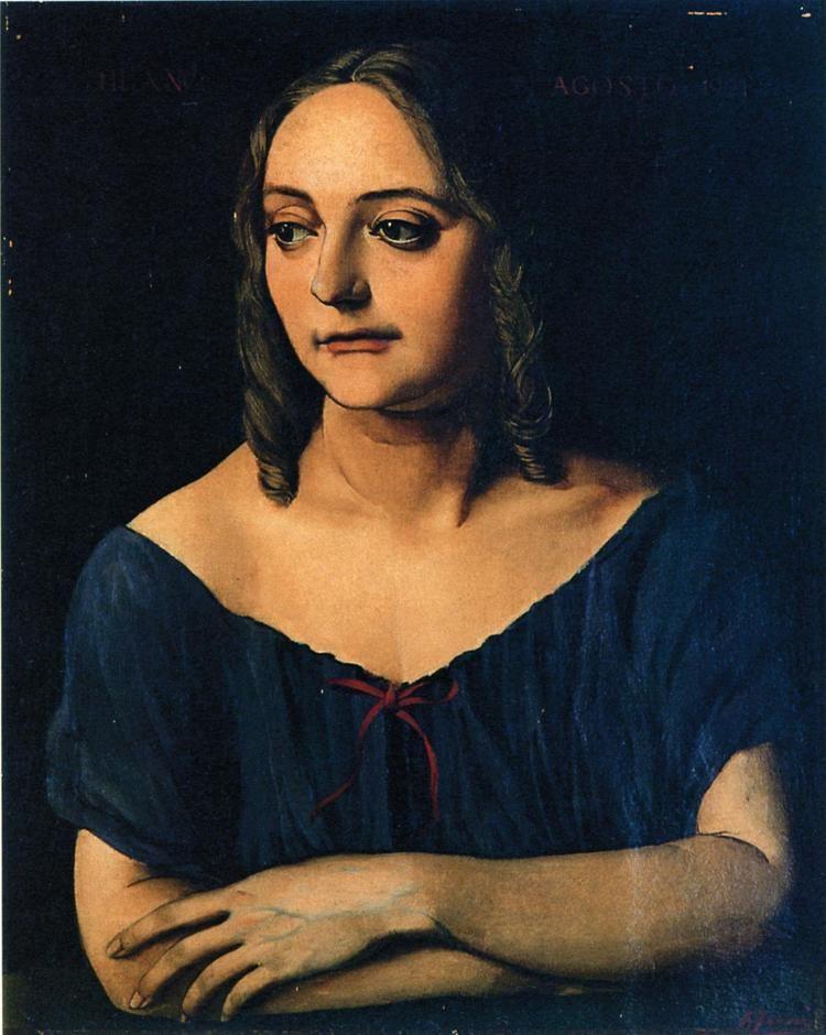 Achille Funi Achille Funi Ritratto della sorella 1921 Ferrara