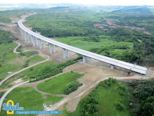 Aciliu Viaduct Poze din Sibiu Autostrada A1 Viaduct Aciliu KM62 63