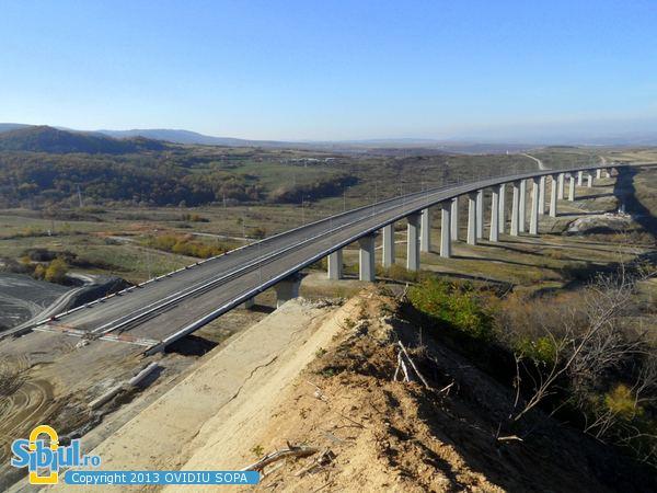 Aciliu Viaduct Poze din Sibiu Autostrada A1 Orastie Sibiu KM 63 Viaduct