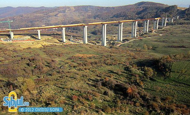 Aciliu Viaduct FOTO Cel mai mare viaduct din Romnia parte din autostrada Sibiu